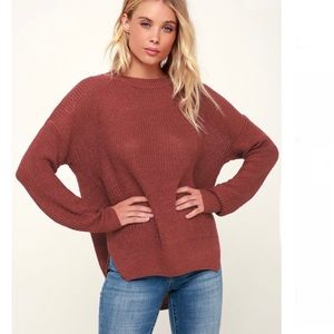 Express Mauve Sweater S NWT